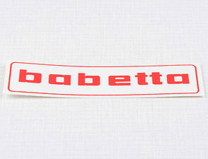 Sticker Babetta 136x32mm - red (Babetta) /