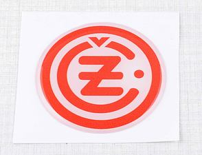 "Sticker ""CZ"" 50mm - white / red (3D) (CZ) /"