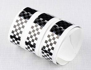 Checkered sticker 2cm x 120cm - SB / CZ