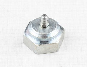 Nut of rear swing fork axle with grease cap (CZ 476, 477) /
