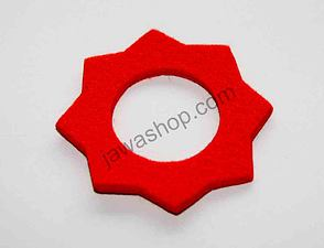 Felt pad of filler cap - red / Jawa S11