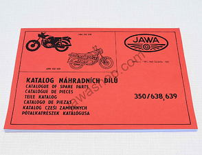 Spare parts catalog - A4, multilanguage / Jawa 638, 639