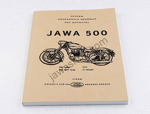 Spare parts catalog - A5, CZ / Jawa 500 OHC type 01