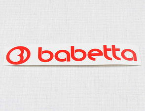 Sticker Babetta 135x25mm - red / Babetta