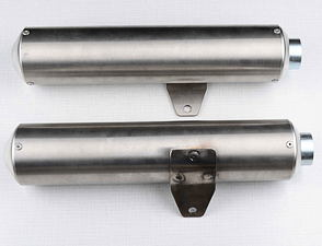 End part of double chamber exhaust silencer set / Jawa 640