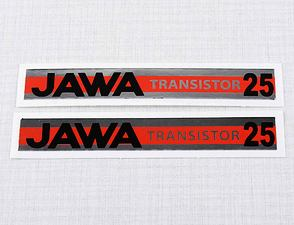 "Sticker ""JAWA TRANSISTOR 25"" 102x15mm / Babetta"
