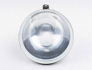 Parabolic reflector with glass lens (Jawa, CZ Panelka) /