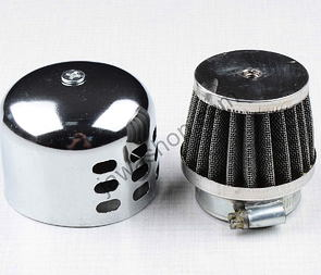 Air filter Sport D35 with cover - straight, small (Jawa, CZ) /