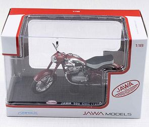 1:18 scale model Jawa 500 OHC (1956) - Red /