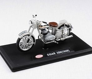 1:18 scale model Jawa Ogar 350 (1948) - GREY /