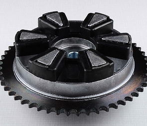 Rear chain wheel - 52t, complete (Jawa 634-640, CZ) /