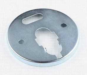 Bottom of speedo / tachometer cover (Zn) (Jawa 634-639) /
