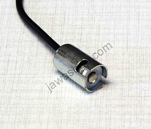 Bulb socket BA9S with wire (Jawa, CZ) /