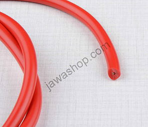 High voltage ignition cable - red 1m (Jawa, CZ) /