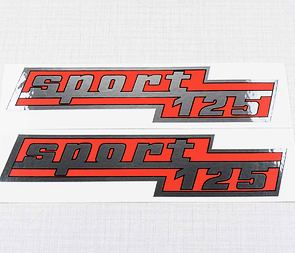 "Side box sticker ""sport 125"" - set / CZ 125"