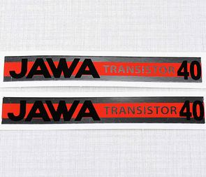 "Sticker set ""JAWA TRANSISTOR 40"" 102x15mm (Babetta) /"