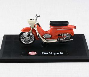 1:18 scale model Jawa 50 Pionyr type 20 - LIGHT RED /