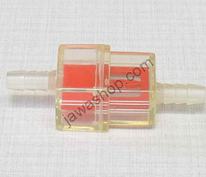 Fuel filter square 5/6mm - red (Jawa, CZ) /