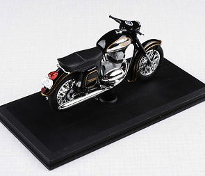 1:18 scale model Jawa 350 Automatic (1966) - BLACK /