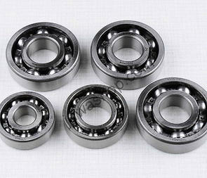 Ball bearing of engine set - 5pcs (Jawa 250) /