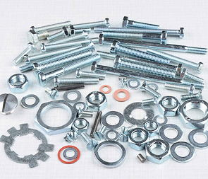 Engine bolt & nut pack (Jawa 250 Panelka) /