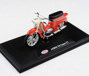 1:18 scale model Jawa 50 Pionyr type 21 - LIGHT RED /