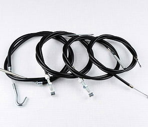 Bowden cable set with adjustment - sport gas (Jawa Kyvacka) /